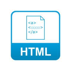 Etiqueta tipo app azul HTML