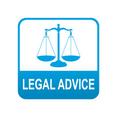 Etiqueta tipo app azul LEGAL ADVICE