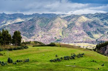 Aussicht auf Cusco in Peru