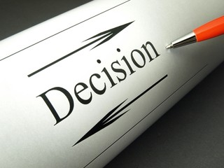 Taking a decision