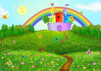Children's fabulous background
