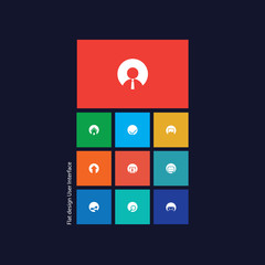 Graphic user interface flat design vector