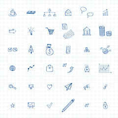 doodles business icons