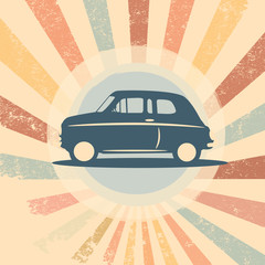 Vintage retro car vector