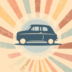 Vintage retro car vector