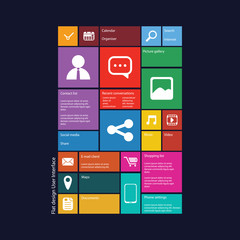 Smartphone graphic user interface vector illustration