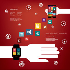 Smart watch concept vector illustration