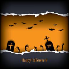 Halloween postcard vector illustration
