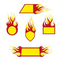 burning emblems