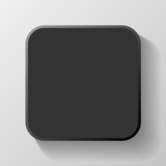 Black Blank Icon Template for Web and Mobile Button with Shadow
