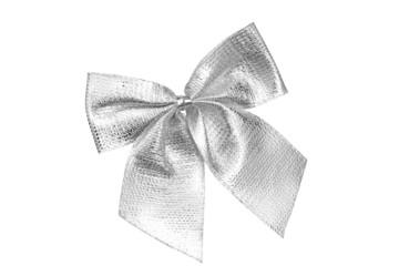 Silver decorative bow