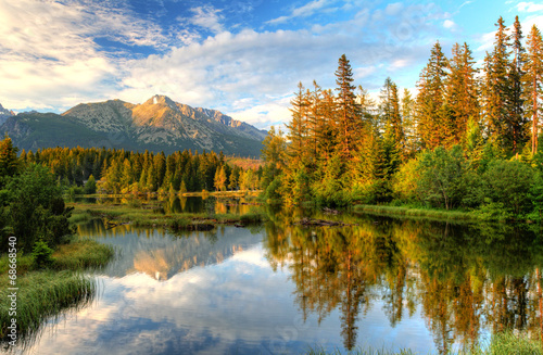 Mountain lake in Slovakia - Strbske pleso