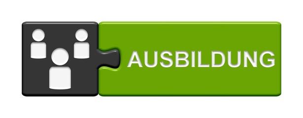 Puzzle-Button grau grün: Ausbildung