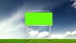 Billboard With Green Screen