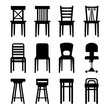 Old, Modern, Office and Bar Chairs Set. - 68669177