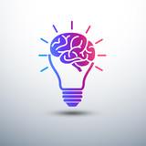 Creative brain Idea concept with light bulb and plug icon ,vecto - 68669141