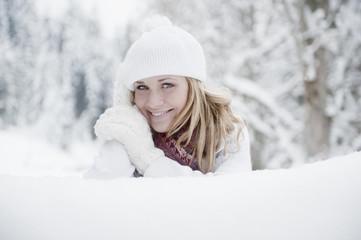 Österreich , junge Frau lächelnd, Porträt