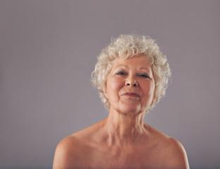 Portrait of confident old woman