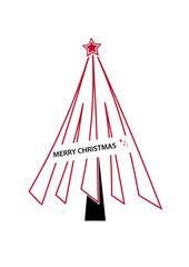 weihnachtsbaum - modern - rot