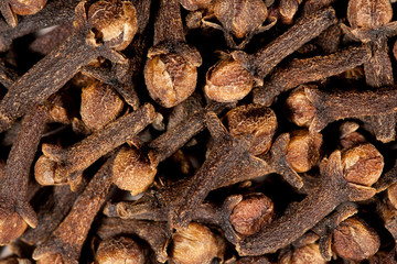 Texture of cloves captured from above. Macro photography