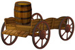barrel and wagon - 68670318