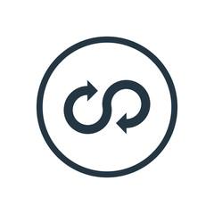 infinity arrow icon.