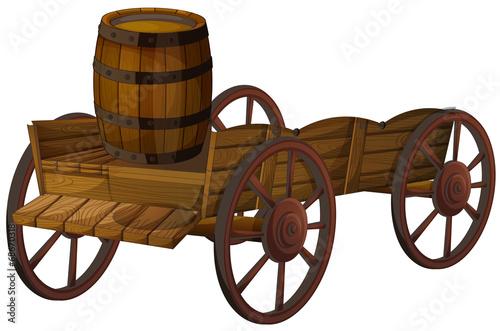 barrel and wagon - 68670318