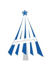 weihnachtsbaum - modern - blau