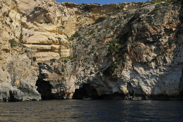Malta, the picturesque site of Blue Grotto
