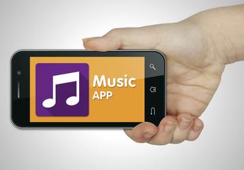 Music app. Mobile