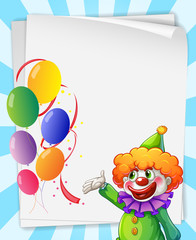 Clown invitation