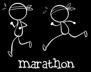 Simple marathon doodle