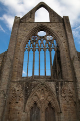 Tintern abbey cathedral ruins. Abbey was established at 1131.