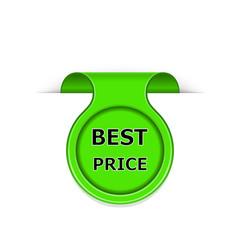 Vector bookmark with best price message
