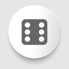 Vector illustration of one dices - side with 6