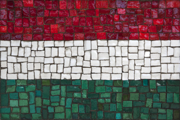 Mosaic flag of Hungary