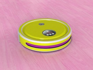 Robot vacuum cleaner 3d render