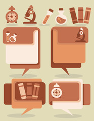 education and science vector symbols and flat icons