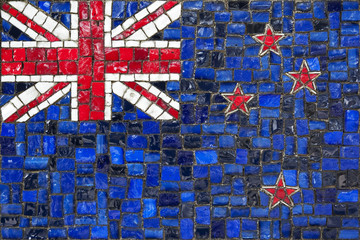 Mosaic flag of new zeland