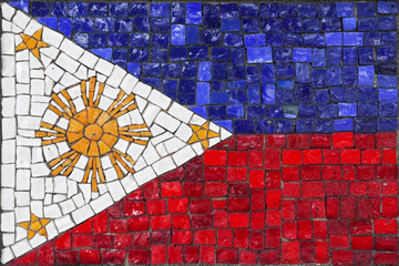 Mosaic flag of Philippines