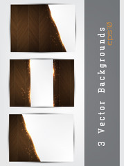 Wood backgrounds set
