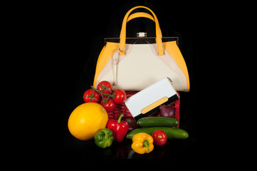 bag with vegetables