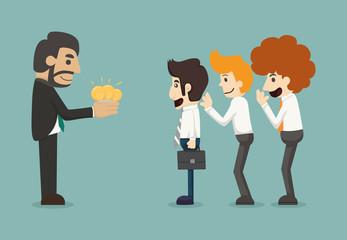 Businessman share idea