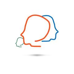 Leader abstract people. Idea. Mind.