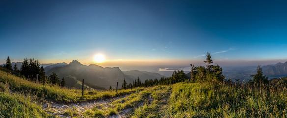 Sonnenuntergang über der Kampenwand