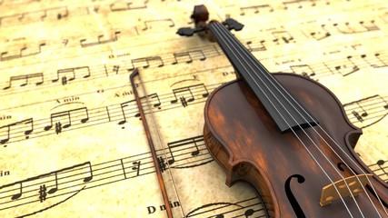 Violin, Note - Stock Image