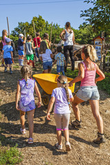 Children in a summer camp