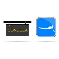 gondola sign vector illustration