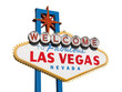 Welcome to Las Vegas Sign Isolated