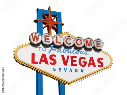 Deurstickers Las Vegas Welcome to Las Vegas Sign Isolated